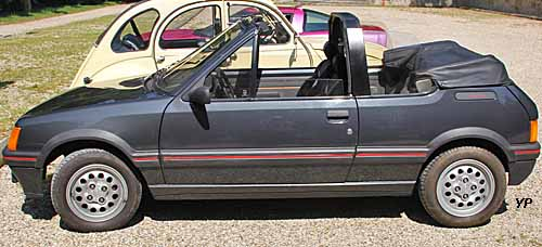 peugeot 205 cti cabriolet guide automobiles anciennes. Black Bedroom Furniture Sets. Home Design Ideas